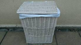 Cream coloured linen Basket