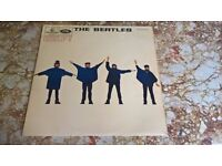 "The Beatles 'HELP' 12"" Vinyl 1965 (1st PRESS / Parlophone / Outlined MONO)."