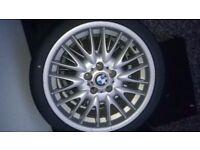 "BMW MVII 18"" Staggered Alloy Wheels & Tyres"