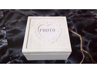 2 x Canvas Storage boxes with lids Brand New, Jewellery Box