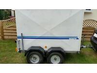 Conway Glidealong twin axle box trailer