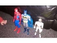 Spiderman and batman figure