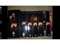 24 series 1-8 plus redemption film.