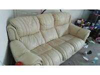 Free cream sofa leather