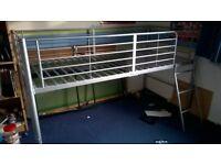 metal single mid sleeper bed frame