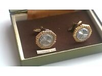 Multi Tonned Cufflinks Yellow Gold and Silver Tone -can post for extra-