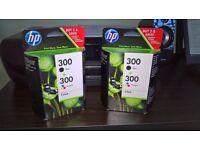 HP combo packs X 2 part no CN637EE both new,reason for sale brought new printer diffrent inks