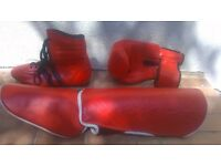 Professional Boxing Gloves with Professional shoes and accessories