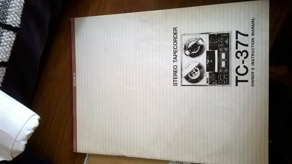 sony tc-377 owners manual