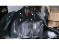 ladies black leather patrol style jacket
