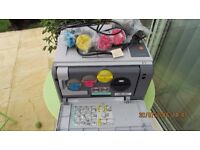 """Samsung CLP-300N Colour Laser Printer with lead and some unused toners """"not working"""" see details"""
