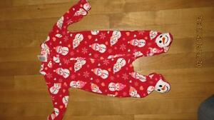 New Price - Fleece Girls Snowman Sleepers