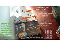 New Never unpacked complete set of Pro Cook pots & pans plus extras