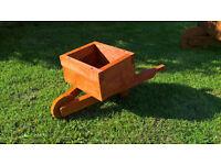mini wheelbarrow planter