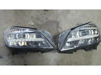 Mercedes benz 2014+ cls headlights. Bi xenons. Intellight
