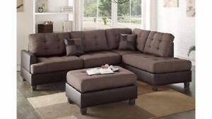 MEUBEL.CA  New in the boxes !   Sectional with ottoman