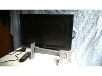 """TV / DVD combi - Alba 22"""" with wall mount and stand, with remote. Located in Crich."""