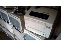 14 x Xerox 8570 & 8560 DN ColourQube Printers For Parts All Power On, No Inks.