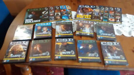 20 EPISODES OF C.S.I. - 10 x DVD COLLECTION PLUS MAGAZINES. A COLLECTORS ITEM!