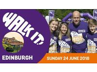 Volunteer with Crohn's and Colitis UK - Charity Walk -edinburgh City Centre
