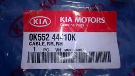 Kia Sedona 2004 rear right hand handbrake cable.