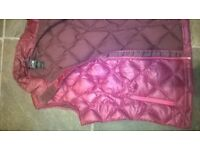 North Face 600 pink ladies down gilet / bodywarmer Size Medium