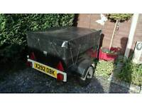 Approx 3x2ft black trailer