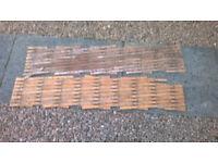 Two wooden trellises