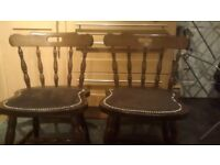 Kitchen chairs. 4 solid wood