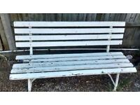 2 GARDEN BENCHES BOTH IN NEED OF TLC.