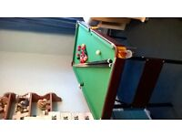 Pool Table with cues and balls. Good condition