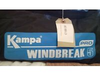 Kampa Pro 5 Windbreak with Steel Poles. New Condition