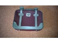 small suitcase maroon/grey length 14 inches width 18 inches depth 4inches excellent condition