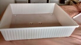 four matching Underbed boxes