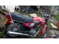 Honda CG125 red 125cc motorbike project