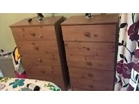 three chest of drawers for sale