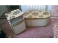 Lidded Padded Blanket Box / Ottoman and Matching Bedside Cabinet