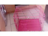 Easypet pink dog cage/crate