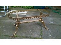 Vintage Brass Table Base with Britnnia Busts to legs