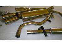VW GOLF MK4 GTI BEETLE 1.6 1.8T 1.9 STAINLESS STEEL QUAD CATBACK EXHAUST