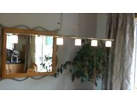 Dining room light - dimmable. Bar with 6 lamps, suitable for over dining room table