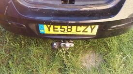 Vauxhall astra 58 reg black with tow bar fitted. Great car look