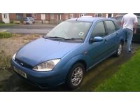 2001 Ford Focus with spare bonnet, SPARES OR REPAIRS
