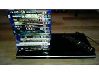 Toshiba smart bluray dvd player with 15 movies.