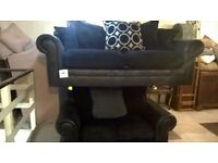 3/2 suite black /grey mix cushions
