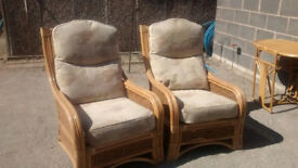 Wicker / Cane Conservatory Chairs - High Quality - Expensive New - Excellent Condition - May Deliver