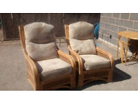 Agatha Chrisite Style Wicker Cane Conservatory Chairs /ExC/ Pricey/ May Deliver