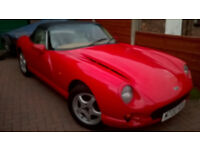 TVR CHIMAERA IN SOLID RED SERVICE HISTORY WITH ONLY 68000 MILE