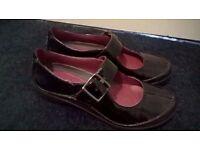 Clarks 'Unstructured' Black Patent Shoes - Size 5
