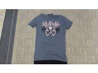 ladies dark grey T-Shirt with def Leppard motif size 6